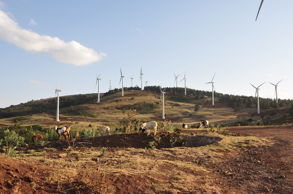 Ngong Hills Wind Farm in Nairobi, Kenya
