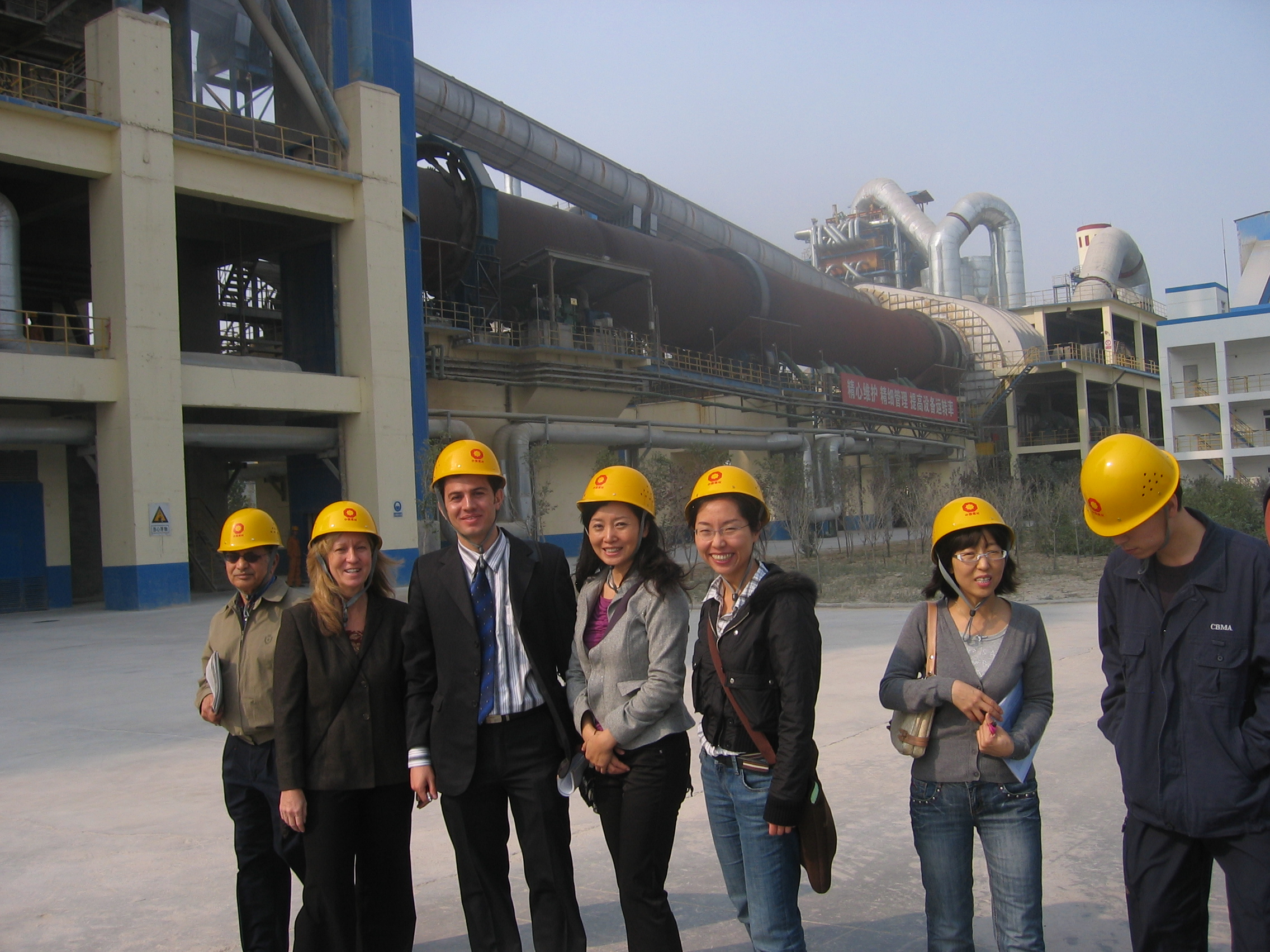 Photo of China Energy Group members at a Chinese cement factory